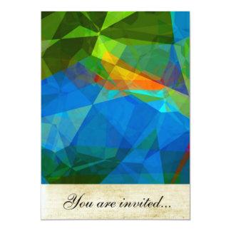 Polígono abstratos 39 convite 12.7 x 17.78cm
