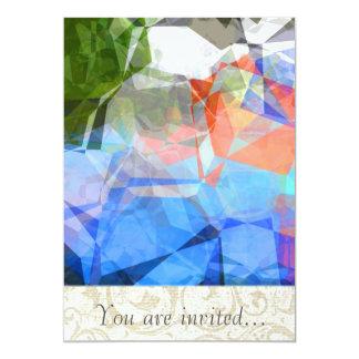 Polígono abstratos 40 convite personalizado