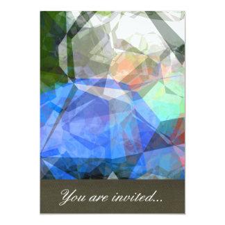 Polígono abstratos 41 convite 12.7 x 17.78cm