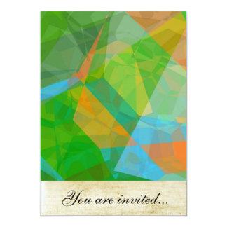 Polígono abstratos 43 convite personalizado
