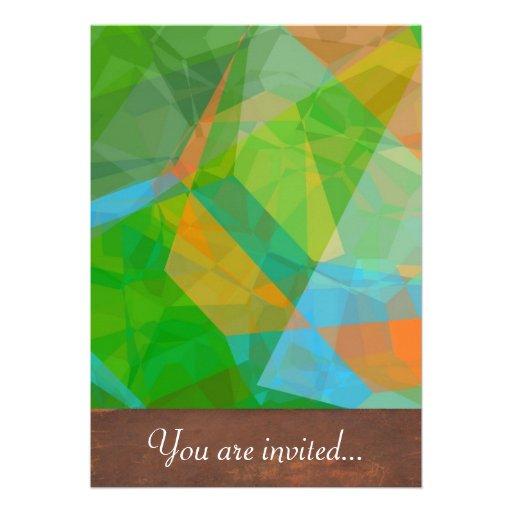 Polígono abstratos 43 convites personalizados