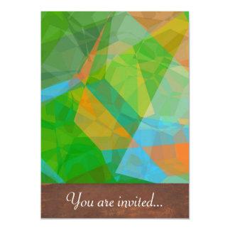 Polígono abstratos 43 convite 12.7 x 17.78cm