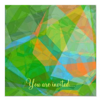 Polígono abstratos 43 convite quadrado 13.35 x 13.35cm