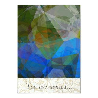 Polígono abstratos 45 convite personalizados