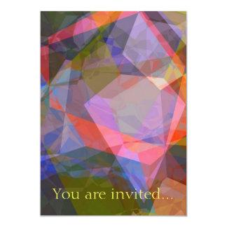 Polígono abstratos 46 convite 12.7 x 17.78cm