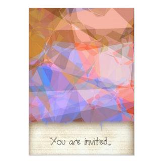Polígono abstratos 48 convite personalizado