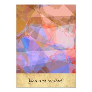 Polígono abstratos 48 convite 12.7 x 17.78cm