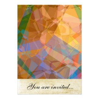 Polígono abstratos 49 convites personalizado