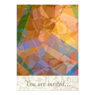 Polígono abstratos 49 convite