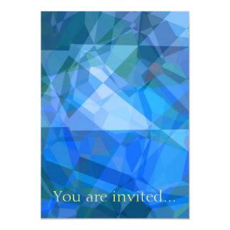 Polígono abstratos 51 convite 12.7 x 17.78cm