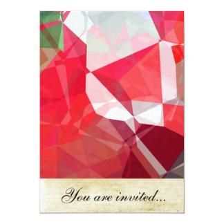Polígono abstratos 52 convite 12.7 x 17.78cm