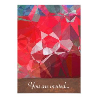 Polígono abstratos 53 convite personalizados