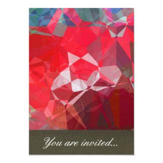 Polígono abstratos 53 convite 12.7 x 17.78cm
