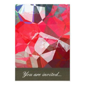 Polígono abstratos 54 convite 12.7 x 17.78cm