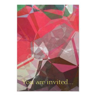 Polígono abstratos 55 convite 12.7 x 17.78cm