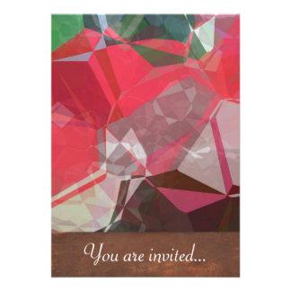 Polígono abstratos 55 convites