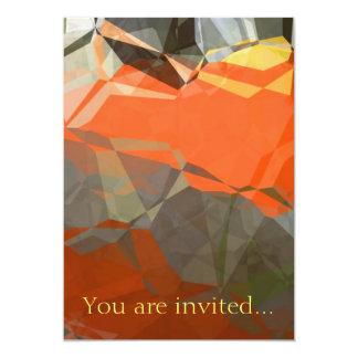 Polígono abstratos 58 convite 12.7 x 17.78cm