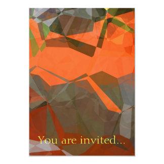 Polígono abstratos 59 convite personalizado
