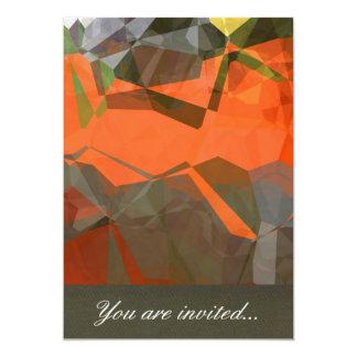 Polígono abstratos 59 convite 12.7 x 17.78cm