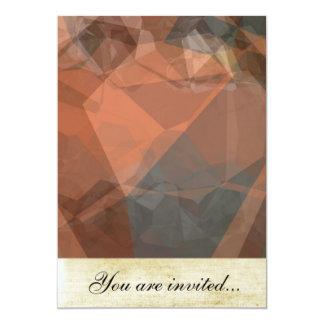 Polígono abstratos 63 convite 12.7 x 17.78cm
