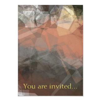 Polígono abstratos 64 convite 12.7 x 17.78cm