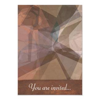 Polígono abstratos 66 convite personalizado