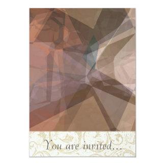 Polígono abstratos 66 convite personalizados