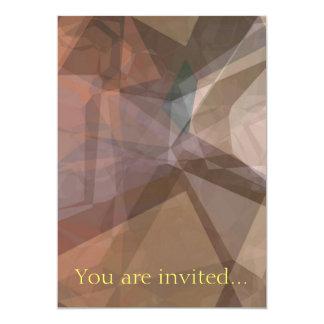 Polígono abstratos 66 convite 12.7 x 17.78cm