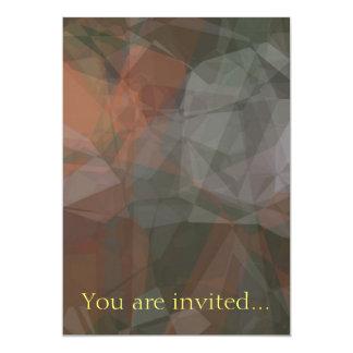 Polígono abstratos 67 convite 12.7 x 17.78cm