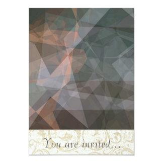 Polígono abstratos 68 convite 12.7 x 17.78cm