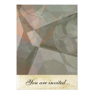 Polígono abstratos 70 convite personalizado