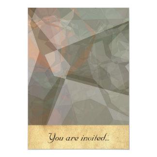 Polígono abstratos 70 convite 12.7 x 17.78cm