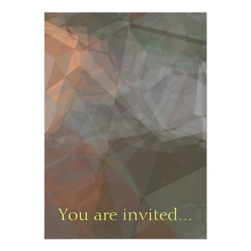 Polígono abstratos 71 convite personalizados