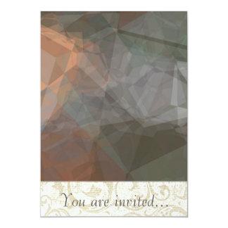 Polígono abstratos 71 convites personalizados