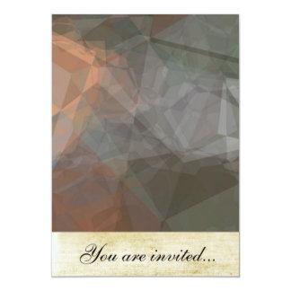 Polígono abstratos 71 convite 12.7 x 17.78cm