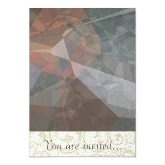 Polígono abstratos 72 convites personalizados