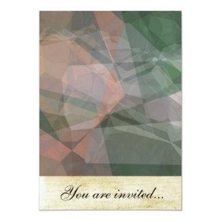 Polígono abstratos 73 convite 12.7 x 17.78cm