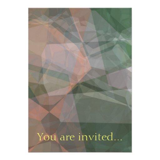Polígono abstratos 73 convite personalizados