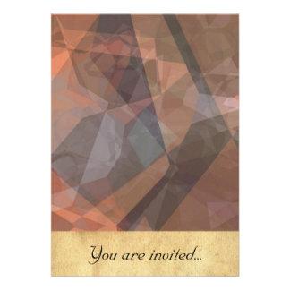 Polígono abstratos 74 convites personalizado