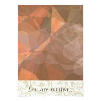Polígono abstratos 75 convites personalizados