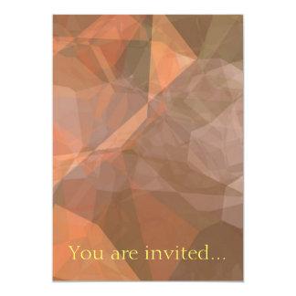 Polígono abstratos 75 convite 12.7 x 17.78cm