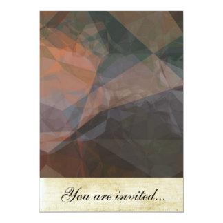 Polígono abstratos 76 convite 12.7 x 17.78cm