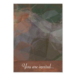 Polígono abstratos 77 convite 12.7 x 17.78cm