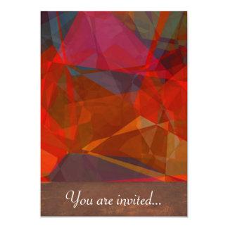 Polígono abstratos 82 convites personalizados