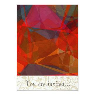 Polígono abstratos 82 convite 12.7 x 17.78cm