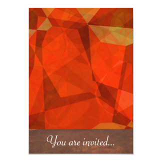 Polígono abstratos 83 convite 12.7 x 17.78cm
