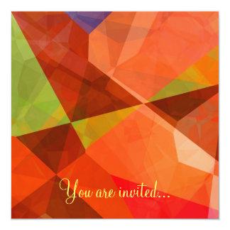 Polígono abstratos 84 convite personalizado