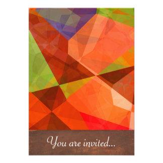 Polígono abstratos 84 convite