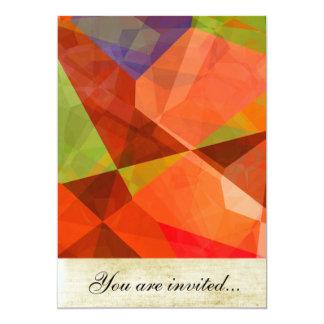 Polígono abstratos 84 convites