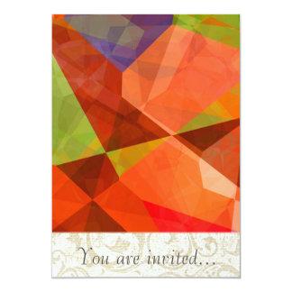 Polígono abstratos 84 convite 12.7 x 17.78cm